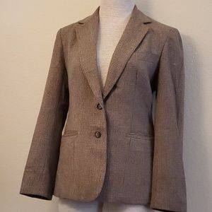Evan Picone brown suit jacket blazer 8